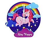 1 Pc Attractive Unicorn Wall Clock Dial size: 11 inches in diameter. Material of the transparent face: None Clock has unicorn design Care instructions: Sturdy Wooden MDF frame make it easy to clean. Pack contents: 1 Wall Clock.(Battery not Included) ...