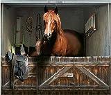Fotoplane Pferdestall fürs Garagentor bei Amazon
