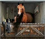 style-your-garage.com Garagentor Fotoplane Pferde Box 245 cm x 210 cm