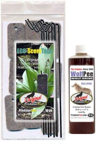 PredatorPee Real favorite New product type Wolf Urine 12 oz Squeeze Bottle Scen Combo with