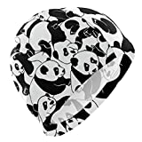 Gorro de natación, color negro y blanco, diseño de oso panda con dibujos animados, impermeable, para adultos, hombres, mujeres, jóvenes, niños y niñas
