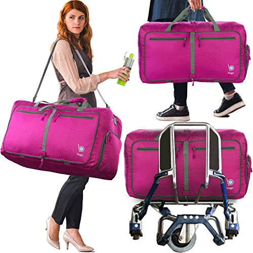Bago Weekend / Overnight Duffle Bag, Pink
