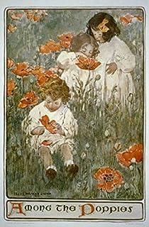 Among The Poppies,Three Children in Field of Poppies,Jessie Willcox Smith,c1904 Infinite Photographs Photo