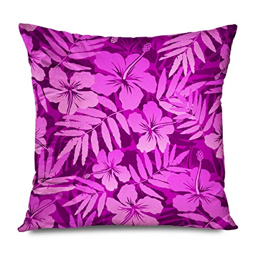 iksrgfvb Throw Pillow Cover Square 45x45CM Pink Wear Simple Colors Tropical Flowers Gradient Seamless Raster Beauty Fashion