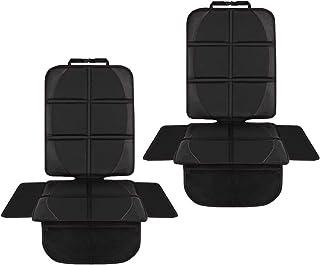 NWOUIIAY 2PCS Autositzauflage Autositzschutz Wasserdichter Kindersitzunterlage zum Schutz der Lederausstattung des rutschfesten Fahrzeugs Leicht zu reinigen und zu sichern