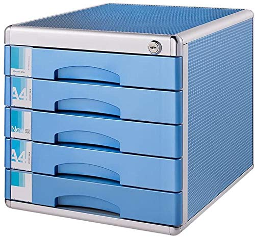 YAYY Desktop File Cabinet 5 Layer Drawer Desk Storage Box Ideaal voor het archiveren en organiseren van papieren documenten vergrendelen ladekast Bureau Organizer met slot (upgrade)