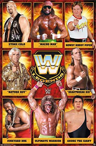 Trends International WWE: Legends - Group 17 Wall Poster, 22.375' x 34', Unframed Version