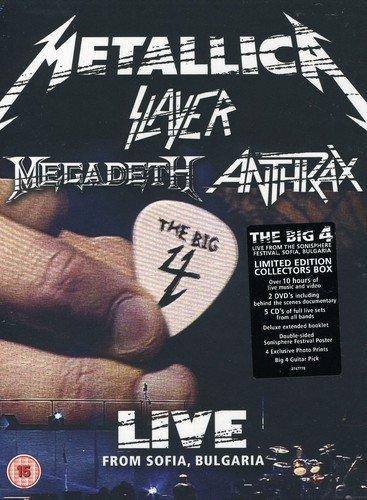 Metallica Slayer Megadeth Anthrax - The big 4 - Live from Sofia, Bulgaria(2 DVD+5 CD)