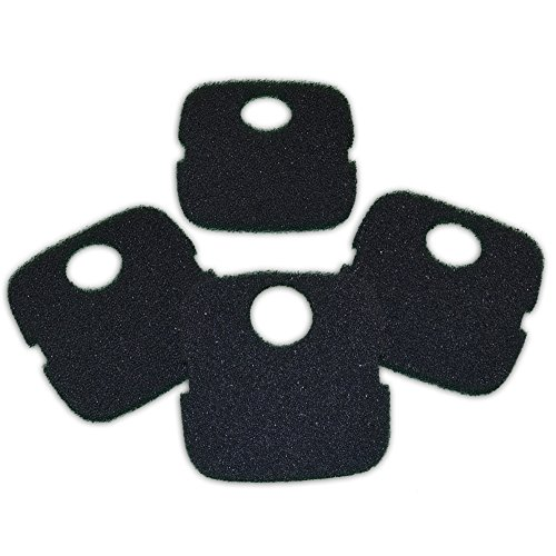 Zanyzap Black Coarse Sponge for JBJ Reaction 4 Stage Canister Filters - 4 Pack
