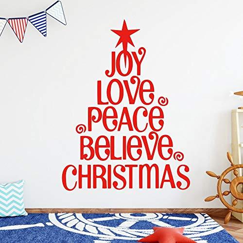 Wandaufkleber,Brief Christbaumkugel Family Decor Wandaufkleber Wandbild Art Home Decoration Wohnzimmer Kinderzimmer Weihnachtsgeschenk, 34.4X45.6Cm