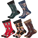 Calcetines divertidos para hombre, coloridos y funcionales, para oficina, diseño moderno y casual, de algodón