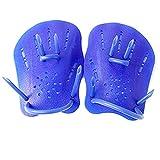 Nuoto Pagaie forza della mano Pagaie formazione guanti di nuotata di potenza per il nuoto per bambini principianti adulti Blu S