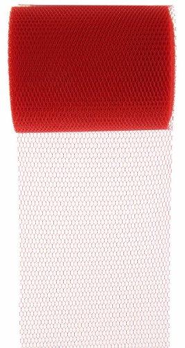 SANTEX 70227-7, Rouleau de 10 mètres de tulle rouge