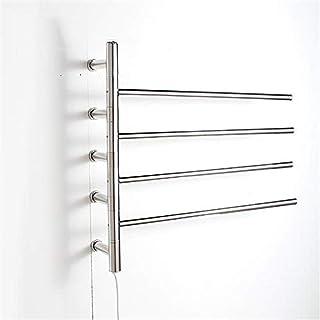Toalleros repisa Montar en la Pared eléctrico Calentador de Toallas, Calentadores de Toallas de baño, Calentador de riel Calentador Radiador Manual- 590 * 630 * 120mm-51W
