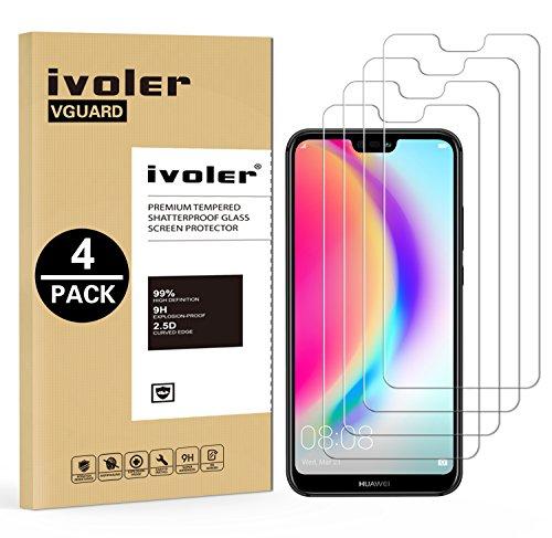 iVoler [4 Pack] Pellicola Vetro Temperato per Huawei P20 Lite, Pellicola Protettiva, Protezione per Schermo