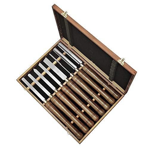 Faithfull - HSS Drehmeißel Holz Set Boxed 8PC - FAIWCTSET8B