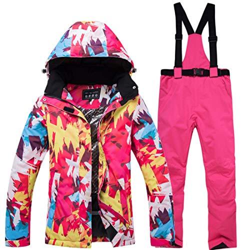 Mike Wodehous Damen Ski Jacke und Hose Schneeanzug windundurchlässige & Wasserdicht Frauen Snowboard-Jacke (Farbe : 06, Size : S)