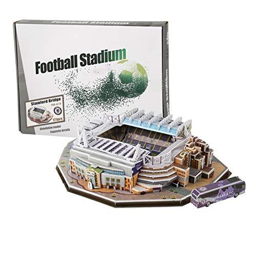 GFITNHSKI 3D Puzzle The Stadium, Manchester United Old Trafford Stadion 3D Puzzle, Erwachsene/Kind DIY Puzzle, Puzzle 3D Fußballfeld Modell, Schlafzimmer, Bürodekoration
