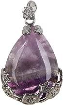Dragonface 1 PC de Cuarzo Natural del Cristal de Piedra con Incrustaciones de joyería de la Vendimia curación Flor Opal Gota del Agua de los Colgantes del Collar