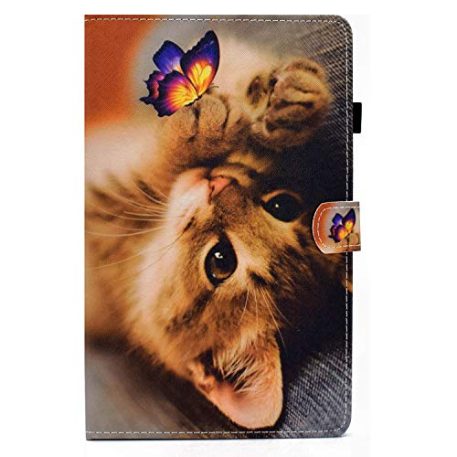 zl one Compatible con/Reemplazo para Tablet PC Samsung Galaxy Tab S7 11 'SM-T870/T875 2020 Liberación PU Cuero Flip Cover Stand Magnetic Wallet Case (Cat)