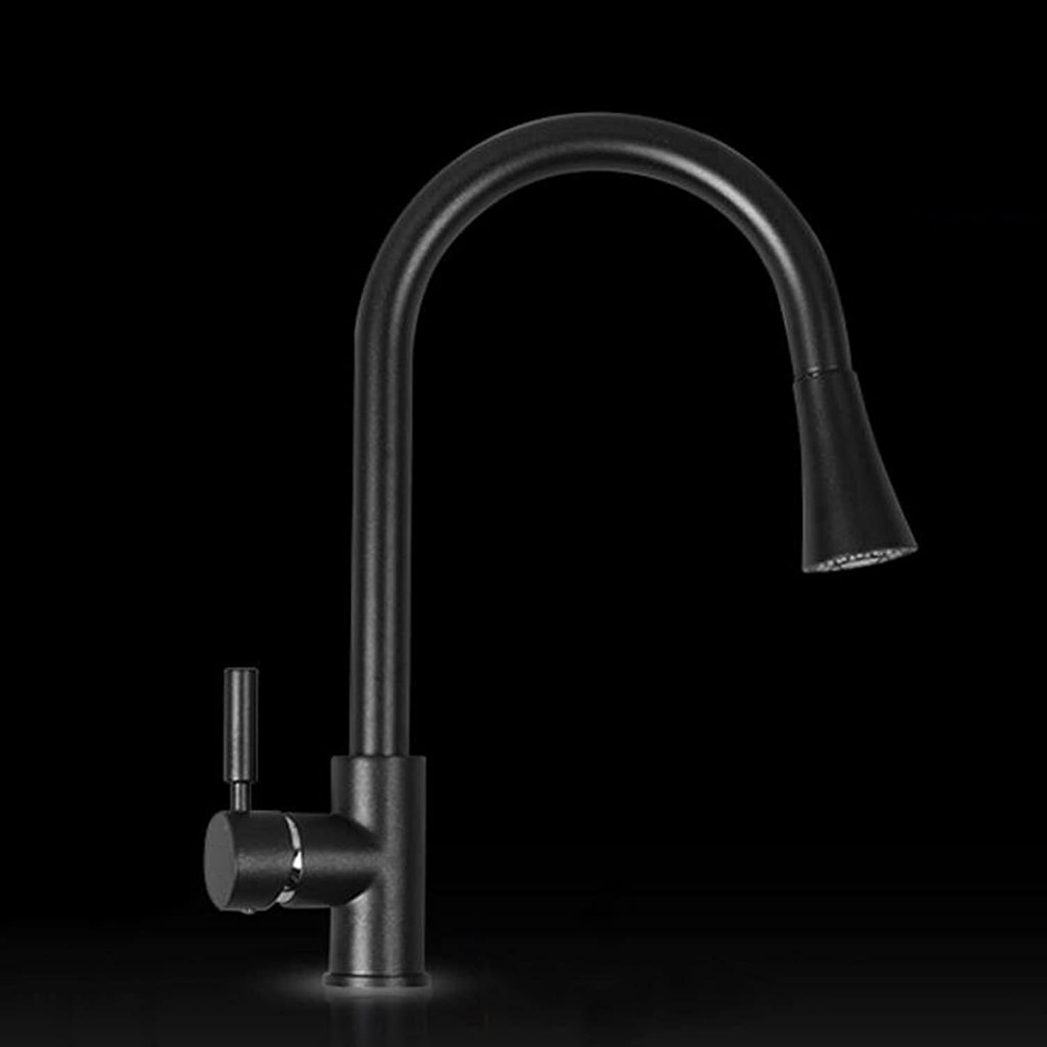 Rollsnownow Quartz stone sink faucet, kitchen sink faucet, high-grade, hot and cold pull-type faucet