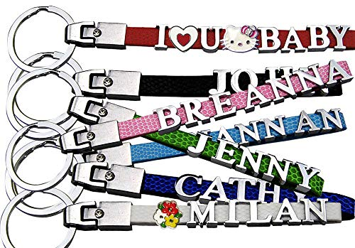 Personalized Key Chain, Name Keychain, Custom Keychain with Metal Letters(1-8 Letters).
