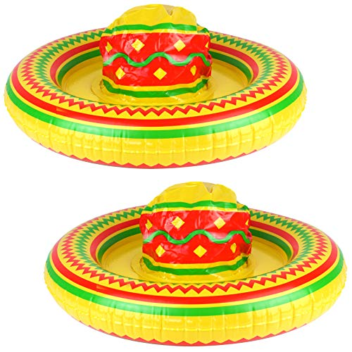 2 aufblasbare Sombrero 53cm Hut aufblasbar Mexico Mexikaner