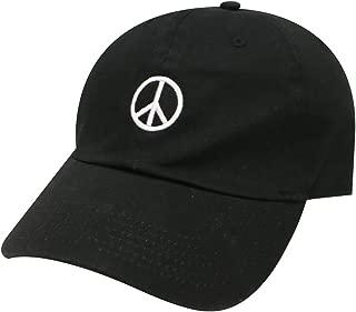C104 Peace Sign Cotton Baseball Dad Cap 16 Colors