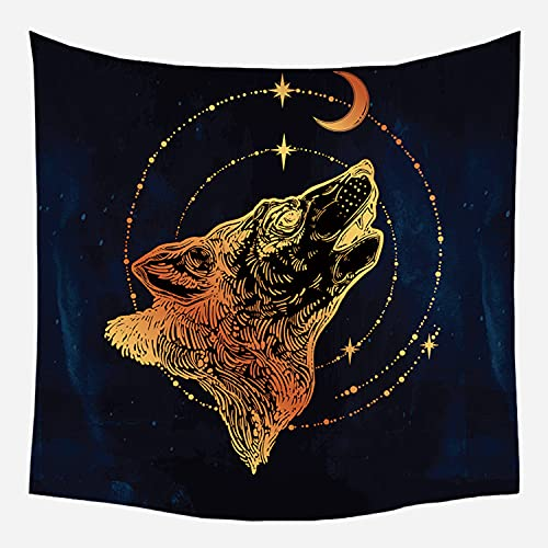 Oukuok Tapestry,Tarot Card Aesthetic Mandala Wall Tapestry,Bohemian Tapestry Wall Hanging for Bedroom, Living Room, Office, Dorm Decor 52x60 Inch (Tarot Card 12)