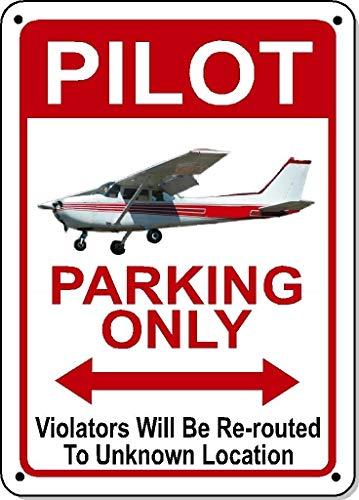"""BDTS Schild mit Aufschrift """"Pilot Parking Only"""", aus Polystyrol, 30,5 x 40,6 cm"""