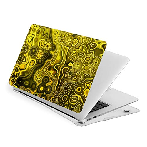 NFGrfd Yellow Black Gold and Brown Waterproof Pv Laptop Protector, Hard Shell Case with Bottom Cover Compatible with MacBook Touch13