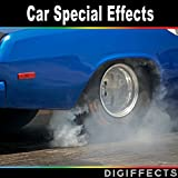 Car Arrives, Brakes with Screeching Tires, Skids, Burnout's and Departs