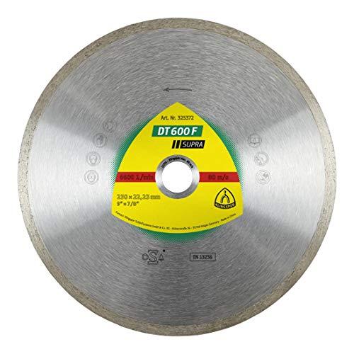 Klingspor DT 600 F SUPRA diamantslijpschijf voor tegels, standaard voor haakse slijper, 230 x 22,23 x 1,9 mm