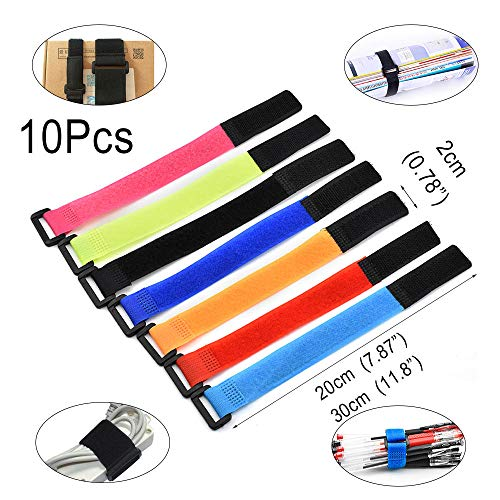 Self Adhestive Hook And Loop Strips Set With Super Sticky Back Nylon Fabric Fastener Magic Tape Black 1.6CM Wide 5 Meter Long 5.46 yards