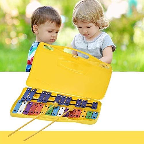 Auagvien Xilófono Notas de Color 25, G2-G4 Glockenspiel, xilófono, Instrumentos Musicales for la Educación, Glockenspiel Hijos, Dos con el Martillo