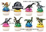 30 x Jurassic Party Stand up Essbare Papier Cupcake Topper Kuchen