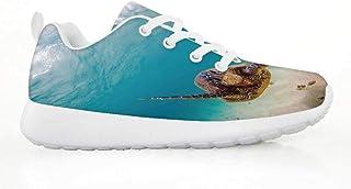 CHENSF Kids Velcro LED Light Up Flashing Sneakers Flashing Shoes for Boys Girls