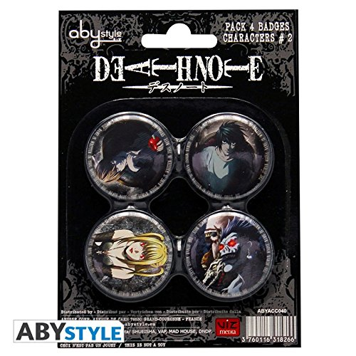 Abystyle - ABYACC040 - Déguisement - Death Note - Pack de Badges - Characters 2