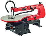 GENERAL INTERNATIONAL 16' Scroll Saw - 1.2A Variable Speed Woodworking Saw with LED Light & Flexible Shaft - BT8007