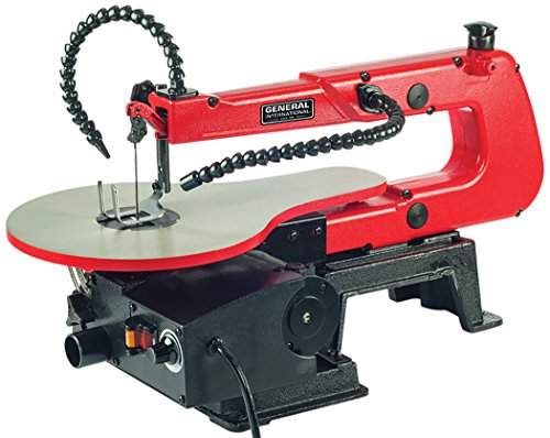 "General International 16"" Scroll Saw - 1.2A Variable Speed Woodworking Saw with LED Light & Flexible Shaft - BT8007"