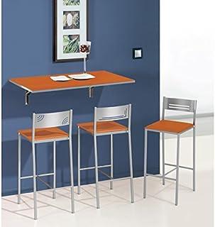 SHIITO Mesa de Cocina abatible de Pared 90x50 cm con Tapa de