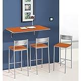 SHIITO Mesa de Cocina abatible de Pared 90x50 cm con Tapa de Cristal
