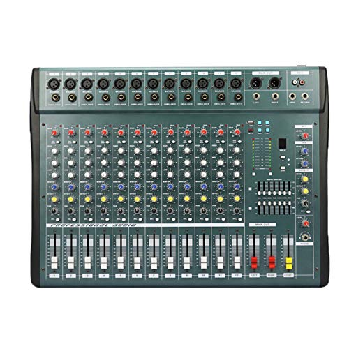 Mesas de Mezcla de Estudio, 6/8/12/16 Canales Audio Música Mezclador USB Consola mezcladora Pro Procesador de Efectos Digitales Console de Mistura de mixagem,12way