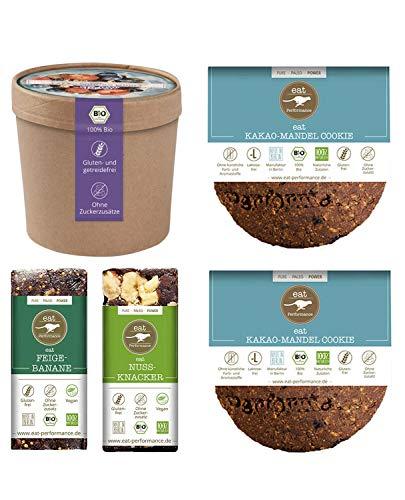 eat Performance® Schoko Box (2x Cookies, 2x Riegel, 1x Müsli) - Bio, Paleo, Glutenfrei, Laktosefrei, Milchfrei, Ohne Zuckerzusatz, Aus 100% Natürlichen Zutaten