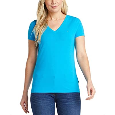 Nautica Easy Comfort V-neck Supersoft Stretch Cotton Solid T-shirt
