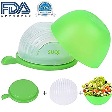 New Salad Cutter Bowl Vegetable Chopper Salad Maker Cutter for Lettuce Fruits Vegetables for Salad in 60 Seconds Healthy Food Maker