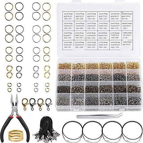 MMYAN 3960 piezas de joyería anillos de división DIY anillos de enlace pulsera anillo conector anillo anillo dividido anillos abiertos para hacer joyas pulsera reparación