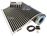 Calorique Chauffage au sol 50cm 150W / m² Set 0.5m² Solution de chauffage efficace et d'économie d'énergie de la maison
