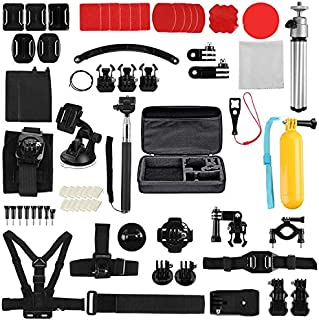 infinitoo 70 in 1 Action Camera Accessories Kit Compatible with GoPro Hero 9 8 7 6 5 4 Hero Session 5 Black Insta360 SJ400...