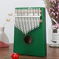 CHENTAOCS カリンバ17キー親指ピアノマホガニーフィンガー高品質の木材ムビラLikembe打楽器アフリカソリッドKalimbasのためにキッズ (色 : 緑)